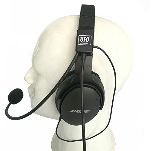 UFQ AV Mike-2 Aviation Headset Microphone Suit for Bose QC25 QC35 Sony MDR 1000X Free with a Headset Bag Also with MP3 Input Compare with U Fly Mike. The Most Safety Solution for This Kind Products