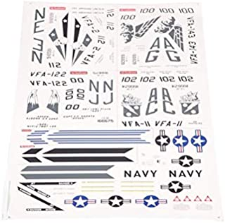 Hockus Accessories FMS 70mm Ducted Fan EDF Jet F18 F-18 Decal Sheet Stickers FMSRC119 RC Airplane Model Plane Spare Parts A18 A-18