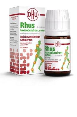 Rhus Tox bei rheumatischen-, Kopf-, und Gliederschmerzen, Hexenschuss, Nevenleiden und nächtlicher Unruhe, leberfreundlich, gut verträglich und kombinierbar, Spar-Set 3x80Stck, passt in jede Tasche