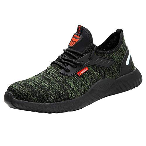 Zapatillas de Running Padel para Hombres Zapatos Deportivas Gimnasio Correr Deportes de Fitness Casual Sneakers Ligero Transpirable Calzado de Trabajo Antideslizante Resistente al Desgaste JiaMeng_ZI