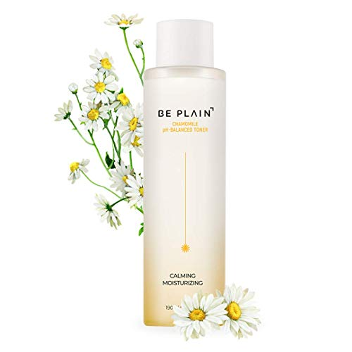 BE PLAIN Chamomile pH-Balanced Toner 6.4 fl oz. - Facial Acne Toner for Face Pore Refining Natural Skin Toner for Blemish-Prone Irritated Acne Sensitive Skin Toners Made with Pure Chamomile Flower