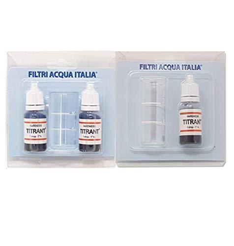 Filtros de agua Italia Titrant 3 Kit Análisis Dureza Agua (Grados Francios) - Tester Dureza Reactivo Único
