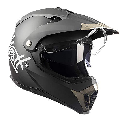 Westt® Cross · Casco Motocross Integrale Nero Opaco Doppia Visiera · Casco Moto Donna e Uomo Off Road Quad Enduro · Omologato ECE