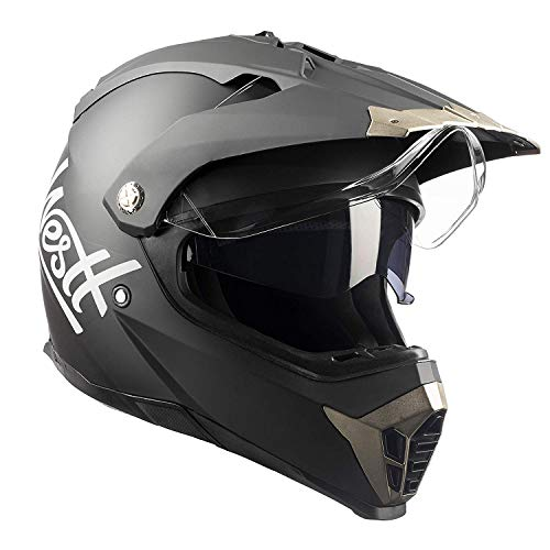 Westt Cross Casco De Moto Motocross Integral con Doble Viser