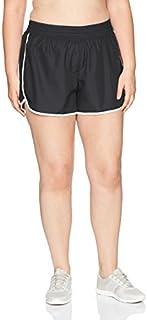 Just My Size Women's Plus Size Active Woven Run Short, Black, 4X