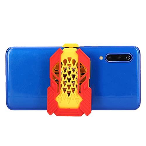 Ventilador de enfriamiento para teléfono móvil, enfriador silencioso para teléfono portátil pequeño, radiador para juegos con batería incorporada de 300 mAh, luz colorida RGB, prolonga la vida útil de