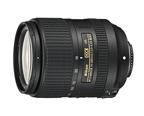 Nikon AF-S DX NIKKOR 18-300mm f 3.5-6.3G ed VR Obiettivo, Nero [Nital Card: 4 Anni di Garanzia]