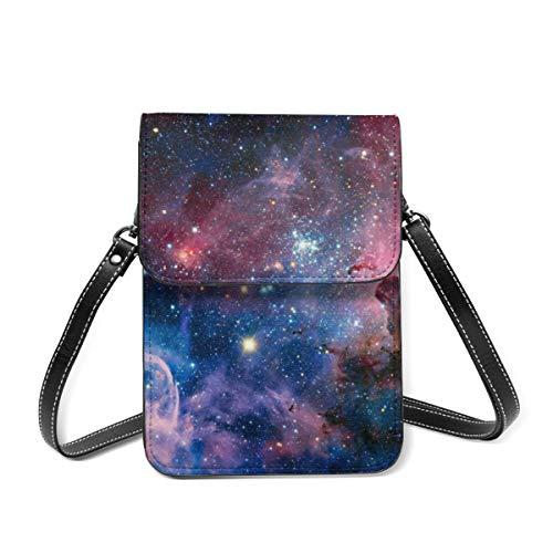 Bidetu Carina Nebula en luz infrarroja pequeños bolsos cruzados para teléfono celular monedero con ranuras para tarjetas de crédito para mujeres