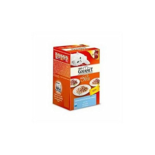 Gourmet Mon Petit Ocean Lot de 2 sachets de nourriture humide pour chat 6 x 50 g (300 g)