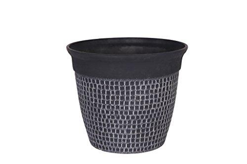 Cera-Mix Pot de Fleurs, Bac à Plante Roca, résistant au Gel et ultraléger, Noir, 36x31cm