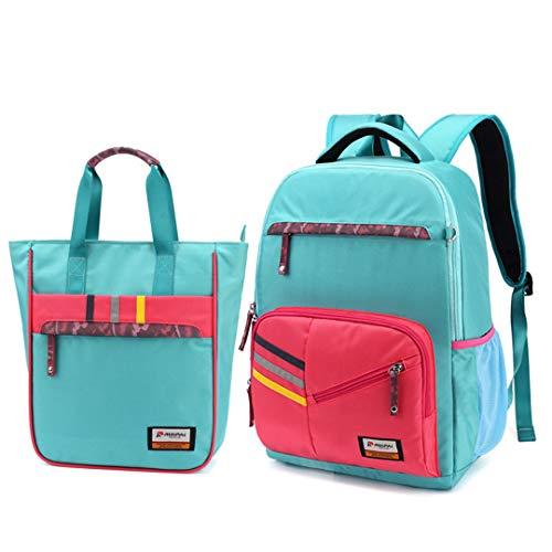 Juego de mochila escolar para niñas, para adolescentes, 2 piezas, mochila y mochila, azul celeste (Azul) - RS190812
