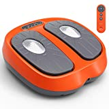 Foot Massager Vibration Plate Foot Massager Platform with Rotating Acupressure Heads Multi Setting Electric Foot Massager with Remote Control (Orange)