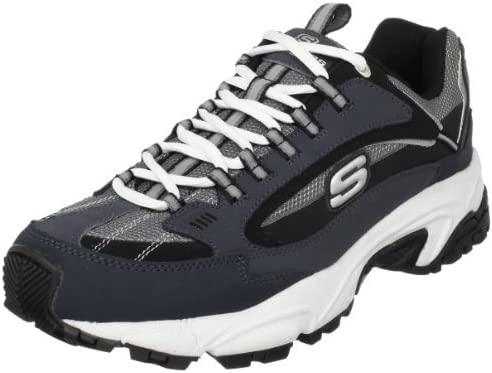 Skechers Men's Stamina-Nuovo lace up sneaker, Navy/Black, 8 M US