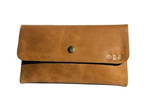 OB8 Federmäppchen aus weichem Leder, handgefertigt, braun