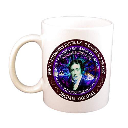Michael Faraday Wissenschaftler Geboren Jungfrau/Waage Cusp Zodiac Metal Pig Cup/Becher