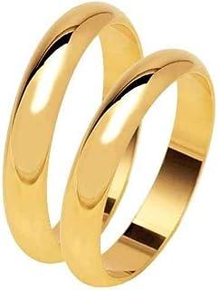 artigianale Fede FEDINA 5 Grammi Circa Colore Oro in Argento 925 Anello Matrimoniale Personalizzato col Tuo Nome E Data IN...