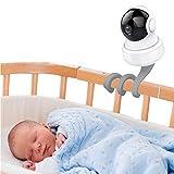 auvstar Soporte Universal para Monitor de Bebé,Soporte Camara Bebe Soporte Vigilabebes para Cuna,Sin Daños en la Pared, Apto para Sin Perforación para todas las demás cámaras con 1/4 tornillo (Gris)