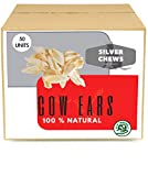 Cow Ears Dog Treats. Highly Digestible Chews (50 Units)
