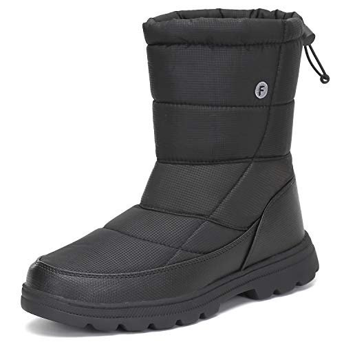 Mishansha Botas de Nieve Hombre Mujer Zapatos Invierno Forro Calentar Botines Plano Impermeable Antideslizante para Mujeres Al Aire Libre