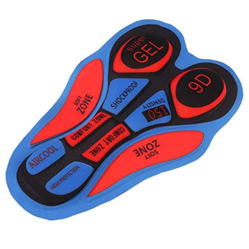 F Fityle Ciclismo Intimo da Gel 3D imbottito Accessori per Pantaloni da Bicicletta - 12D rojo azul, tal como se describe