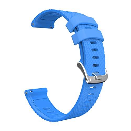 YOURPAI Correa de reloj universal de silicona de 20 mm para Forerunner 245M/245/645 azul