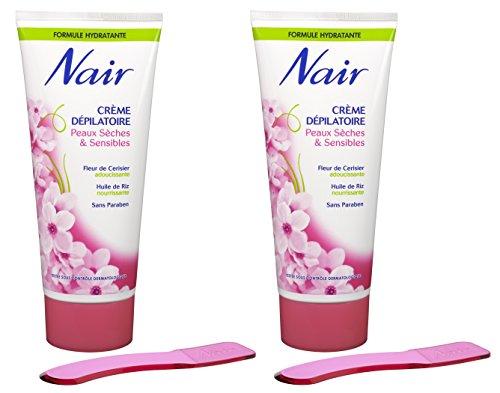 Nair - Crème Dépilatoire - Peaux Sèches & Sensibles -  Jambes, maillot &...