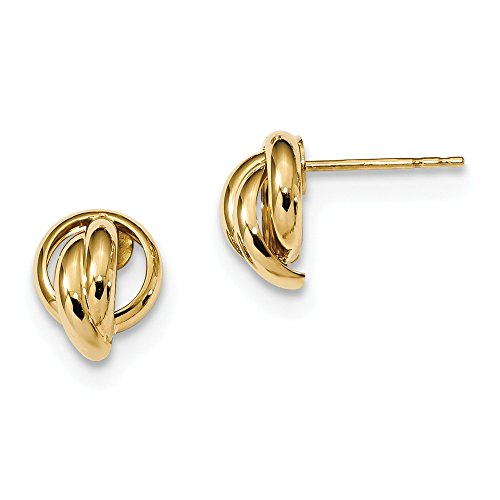 14k Yellow Gold Love Knot Post Stud Earrings Ball Button Fine Jewellery For Women Mothers Day Gifts For Her