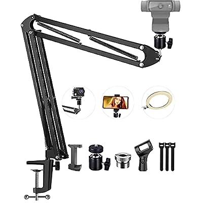 Amazon - 70% Off on  Webcam Boom Arm Stand, Desktop Suspension Scissor Stand for Logitech