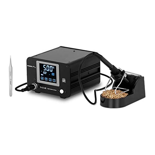 Stamos Soldering S-LS-49 Lötstation digital 100 W Lötgerät Lötset LCD-Touch 500 °C Feinlötkolben Lötkolben Lötpinzette