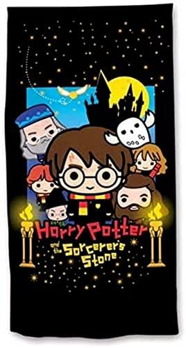AQEWXBB Toalla de playa de Harry Potter, toalla de baño, 75 x 150 dibujos animados, para niños y niñas, de microfibra, secado rápido (Harry de 2,80 cm x 130 cm)