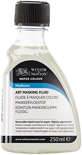 Winsor & Newton 3039759 Aquarell Maskiergummi flüssig, abziehbares Rubbelkrepp für präzise und kantenscharfe Linienführung inmitten fließender Aquarellfarbe, 250ml Flasche