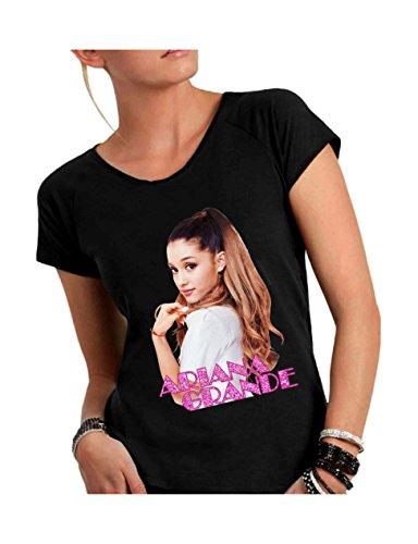 Social Crazy T-shirt voor dames van katoen met brede hals voor Vivo - Ariana Grande Musica Pop Grappige Humor Made in Italy