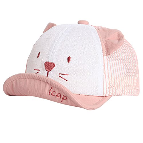 XRDSS XRDSS Baby Junge Mädchen Schirmmütze Kappe Mesh Trucker Baseball Cap (Rot, 1-3 Jahre)
