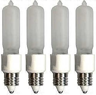 4 Pcs of 100 Watt E11 Base Mini Candelabra, Halogen Light Bulb, 120 Volts, 120V 100W Frost