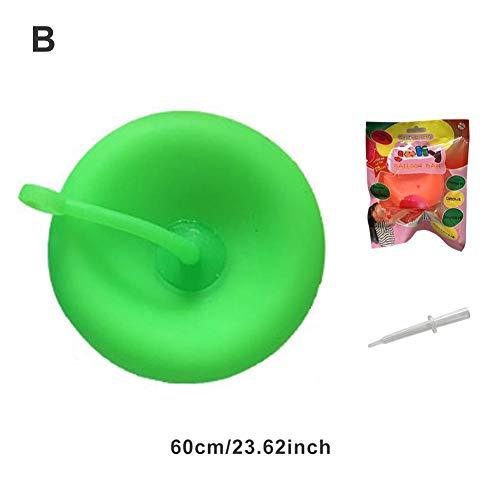 chlius Bola de burbuja, 60 cm TPR transparente relleno de agua interactivo globo burbuja inflable juguete animoso, bola de burbuja increíble para niños para fiesta de verano y juego de agua juguete
