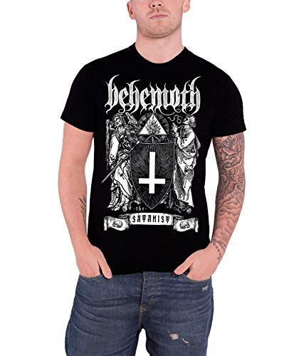Men Short Sleeve T Shirt Behemoth 'The Satanist' T Shirt