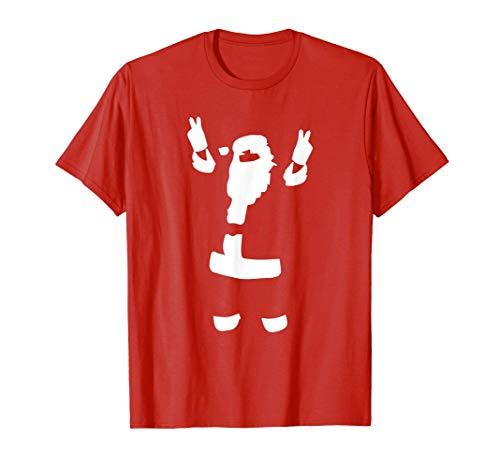 Feliz Navidad Santa Claus Señal de paz Camiseta