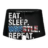 XCNGG Eat Sleep Wrestle Repeat Wrestling Calzoncillos Tipo bóxer de Secado rápido para Hombres Traje de baño Shorts Troncos Traje de baño-S
