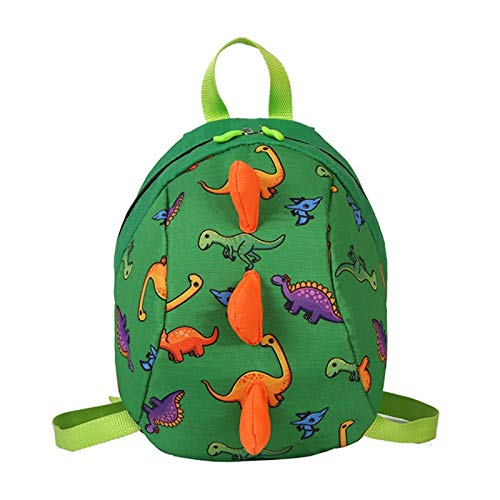 \t Cute Kids Dinosaur Backpack For Girls Boys,Kindergarten School Back Bags Outdoor Daypack green