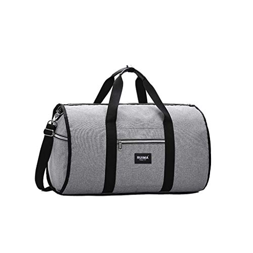 MA87 New 2 in 1 Travel bag Shoulder Luggage Hangeroo Two-In-One Garment Bag Duffle (Gray)