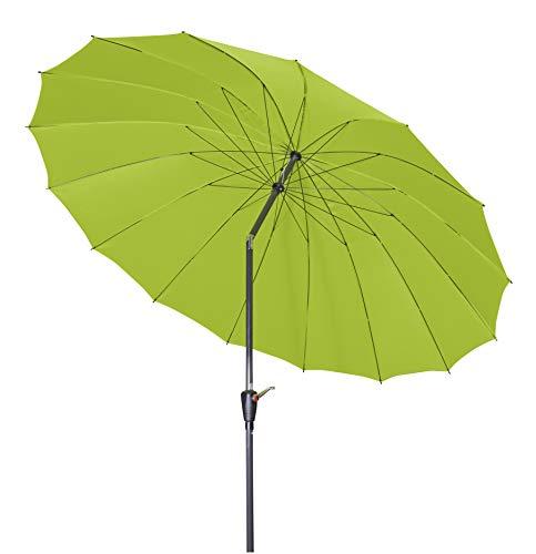 doppler Aluminium Sonnenschirm Asia Look SL-AZ 250 Auto Tilt - Ideal für den Garten - ca. 250 cm - Knickbar - Fresh green