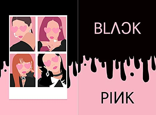 BLACK PINK noutbook : lined journal 120 pages 6×9 inch (English Edition)