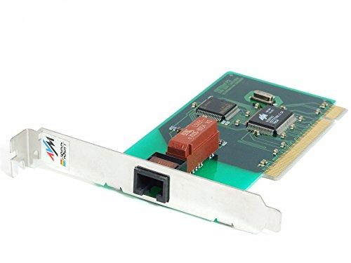 AVM FritzCard ISDN Controller Card Computer Steck-Karte PCI-Slot RJ45 PnP MSN S0 (Zertifiziert und Generalüberholt)