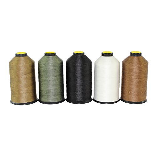 SGT KNOTS #69 Milspec Sewing Thread - Military Grade, Bonded Nylon Thread for Leather Stitching, Canvas Repair and More (8oz Spool, White)