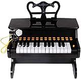 XINRUIBO Piano Multifuncional para niños, 25 Llaves de Juguete de Teclado de Piano con micrófono Teclado para niños para Piano Infantil (Color : Black)