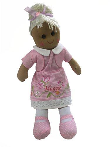 Hermosa muñeca de trapo personalizable de 40 cm, diseño de mariposa, color rosa