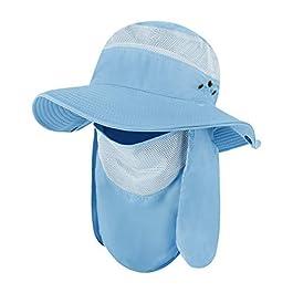 Unisexe Chapeau de Pêche Protection Solaire Chapeau de Solaire Alpinisme Camping Randonnée Chasse Respirant Casquette…
