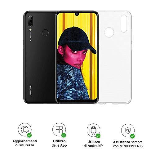 """Huawei Psmart 2019 (Nero) più esclusiva cover trasparente, Telefono con 64 GB, Display 6.21"""" Full HD+, Processore Octa Core dinamico con Intelligenza Artificiale [Versione Italiana]"""