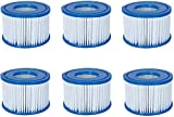 Volca Spares Hot Tub Filter Cartridge Size VI for Bestway, Lay-Z-Spa, Coleman SaluSpa 90352E 58323, 6 Pack