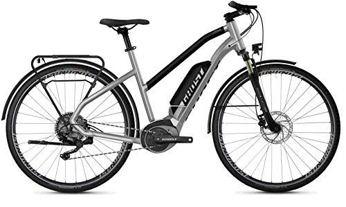 Ghost Hybride Square Trekking B2.8 AL W Bosch Bicicletta elettrica da donna 2020 (28' Trapezio L/56 cm, Iridium Silver/Jet Black)